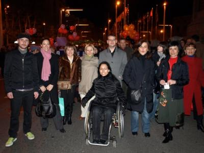 Teresa Perales acude a la manifestación del 8 de marzo