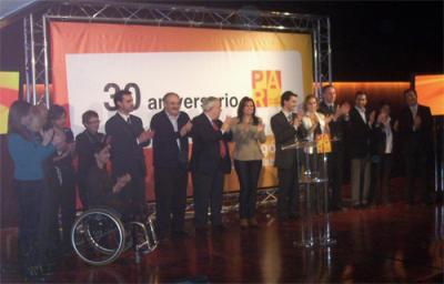 Teresa Perales asiste a la presentación de la candidatura de Huesca.