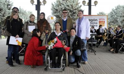 Teresa Perales en La  Almozara